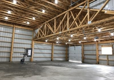 Garage Shop Interior Lighting and Electrical Panel