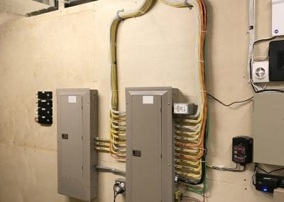 Residential Electrical Panels and Mechanical Room