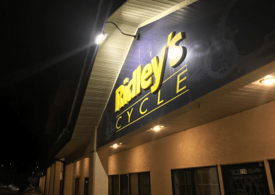 Ridley's Cycle Sign Lighting